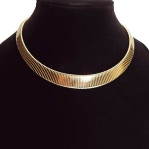 Vintage Park Lane Omega Gold Tone Choker Necklace